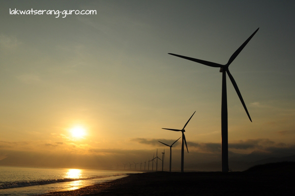 Windmills on the coast of Bangui, Ilocos Norte