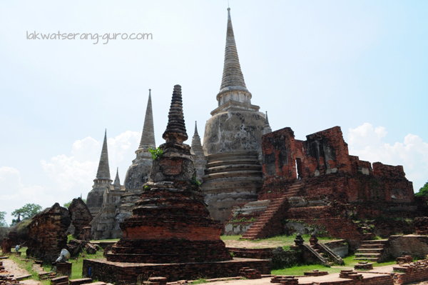 Wat Phra Si Sanphet, inside the Grand Palace grounds of Ayutthaya