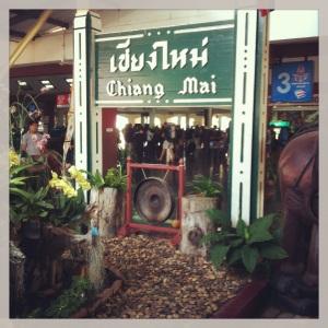 At the Chiang Mai train station.