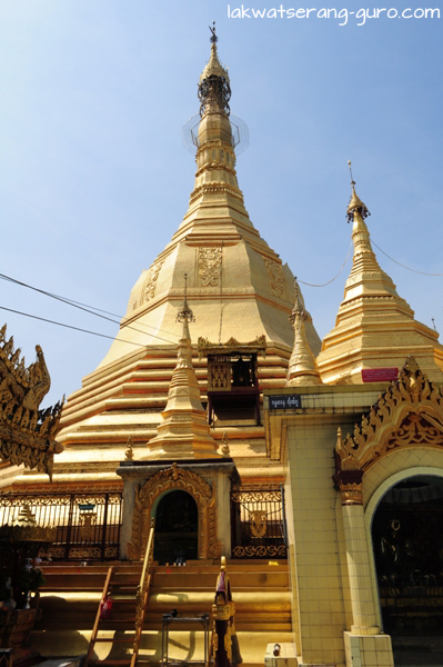 Sule Paya. Notice the small transport for gold leaf.