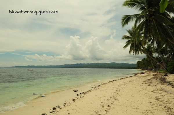 The beach in Candanay Sur