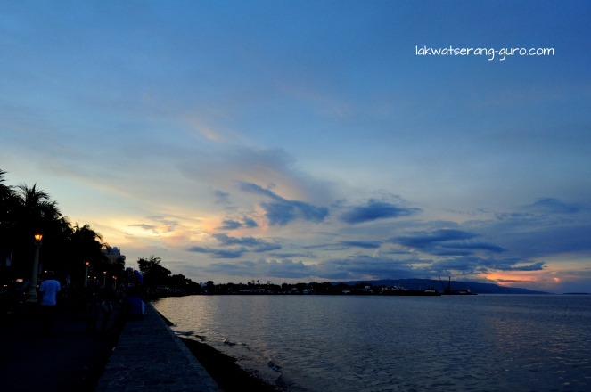Sunset on Rizal Boulevard, Dumaguete City