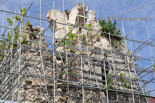 Baclayon Church being restored