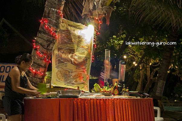 Open-air dining a la Boracay at Alona Beach, Panglao