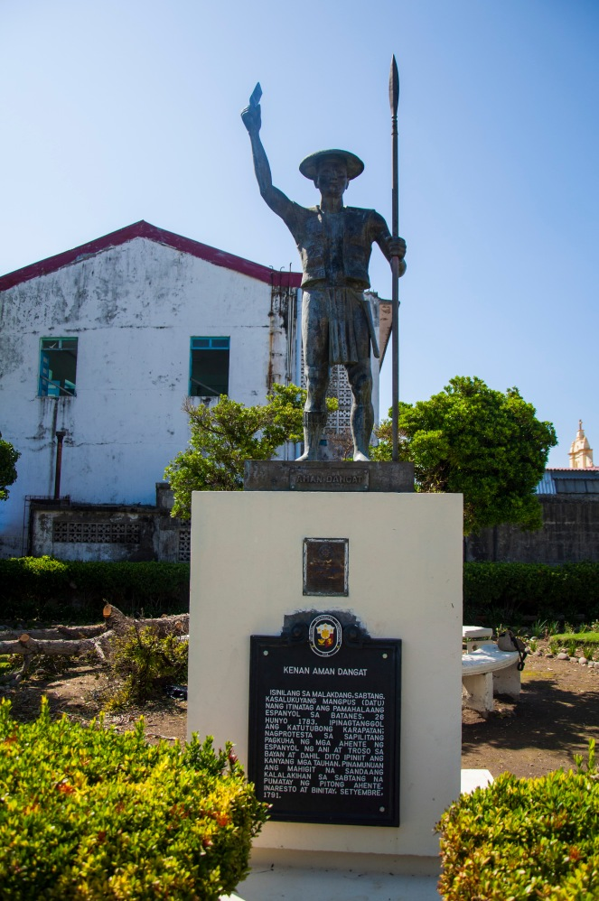 Statue of Kenan Aman Dangat, the datu when the Spanish government was established in Batanes in 1783. He led the rebellion of his people.